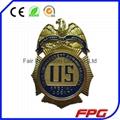 3D Zinc Alloy Magnetic Metal Name Badge