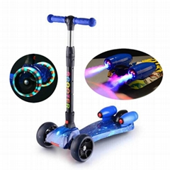 hot selling kids kick scooter with jet spray and music