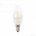 CE/RoHs listed C35 E12/E14/E17 4W dimmable led filament candle LED bulb 5
