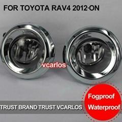 Free Gifts Fog Lamp for TOYOTA RAV4 2012 Clear Lens PAIR SET + Wiring Kit