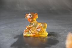 古法琉琉璃十二生肖工艺品动物摆件