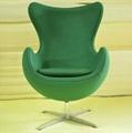 Designer fiberglass furniture Arne Jacobsen egg shaped chairs livingroom chair