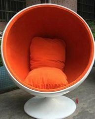 New fiberglass Space ball chair inspired by Eero Aarnio