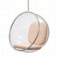 European design  fiberglass scoop Balloon Hanging Chair
