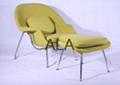 Good Quality fiberglass Wool Fabric Lounge Chair Womb Chair