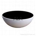 Tempering glass fiberglass bowl coffee/end table