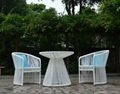 Outdoor Garden Rattan wicker table and chair furniture