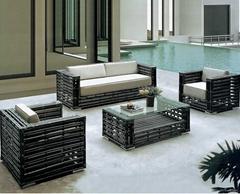 Wicker Waterproof Outdoor Rattan Garden Sofa Furniture