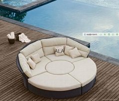 Outdoor wicker rattan patio sofa sets furniture