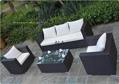 PE Rattan outdoor wicker garden sofa sets furniture