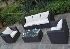 PE Rattan outdoor wicker garden sofa sets furniture