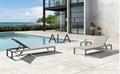Outdoor patio furniture aluminum frame sun lounger beach chair sun bed