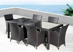 PE Rattan outdoor garden chair and table furniture