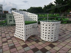 Outdoor garden PE rattan chair and table sets