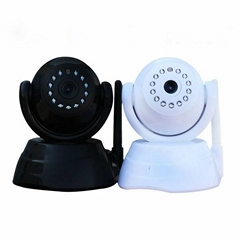 mini p2p ip camera with pan and tilt, support remote view on smartphones