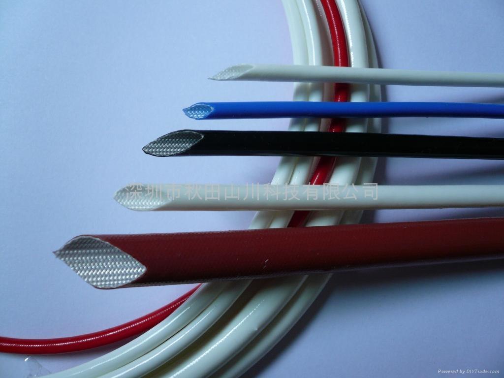 硅橡膠玻璃纖維(內纖外膠)套管 3