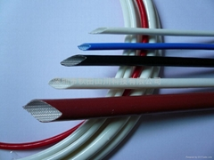 Silicone rubber coated fiberglass