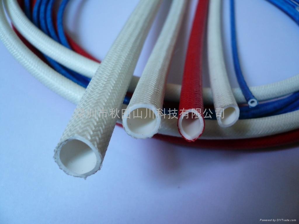 Silicone rubber fiberglass (rubber inside and fiber outside) sleeving 1