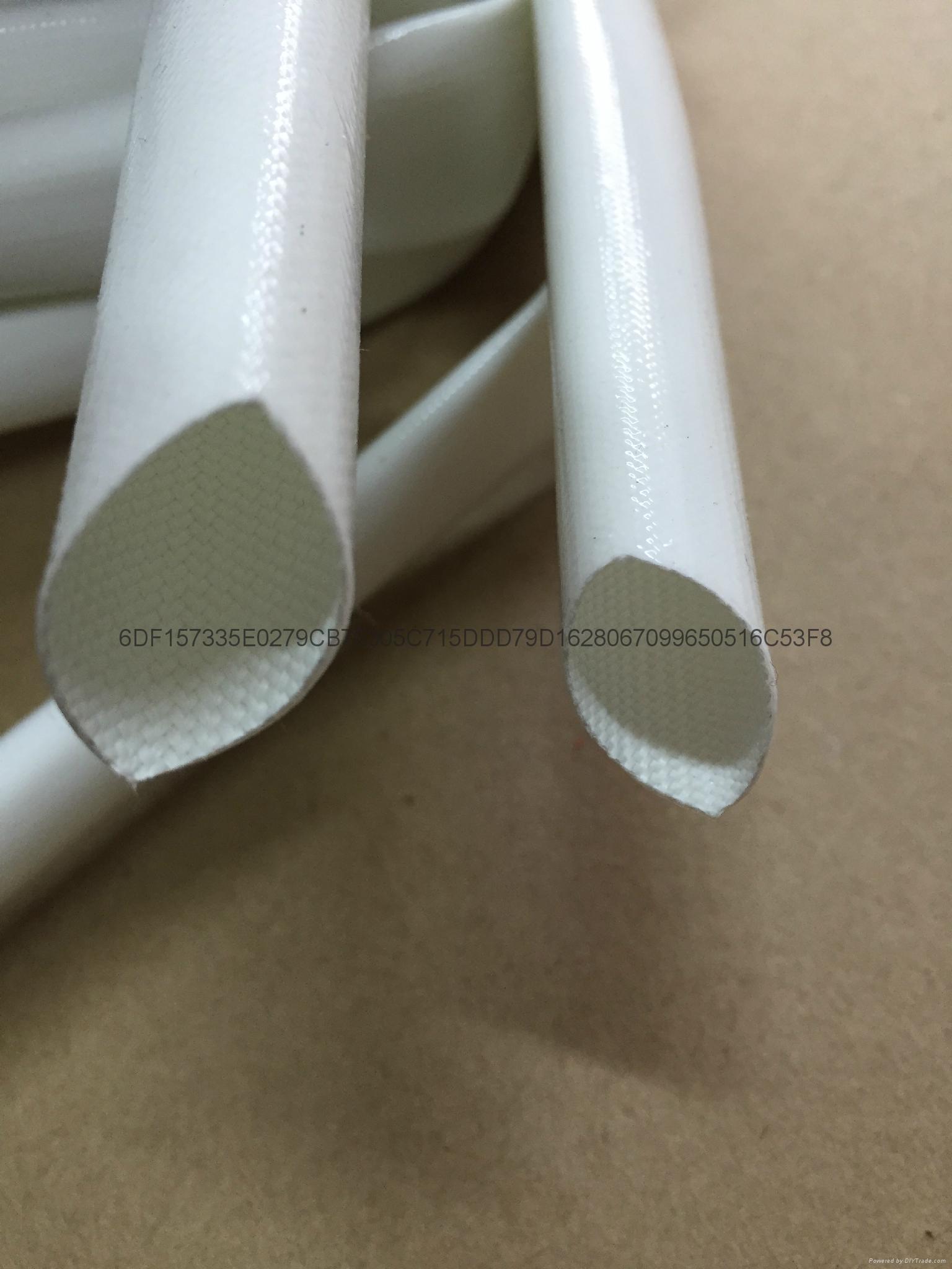 硅橡膠玻璃纖維(內纖外膠)套管 4