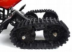 Electric snowmobile rubber track