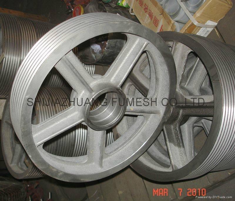 Grooved wheel