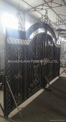 Steel gate and fence