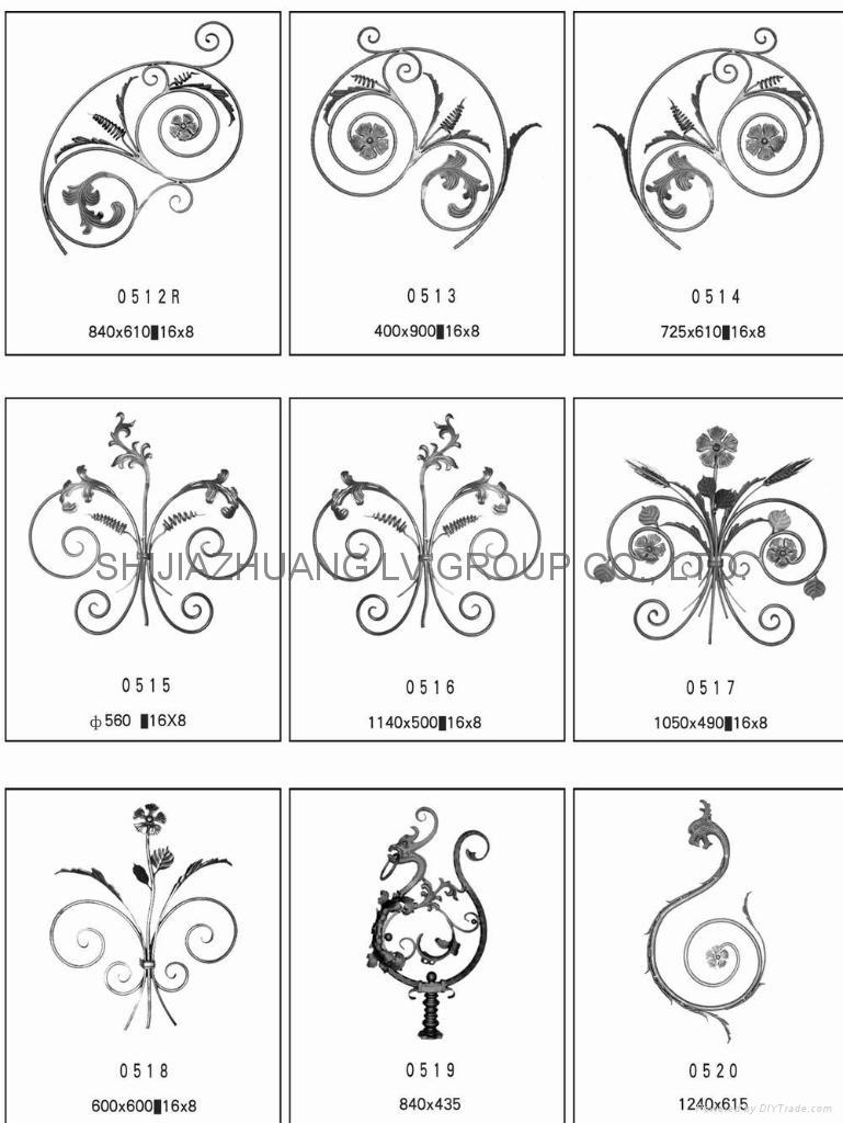 Cast steel & Wrought iron Ornament