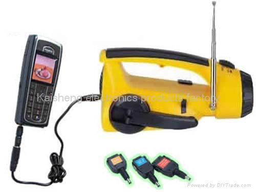 Handle dynamo radio flashlight 1
