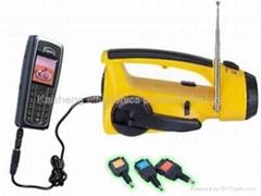 Handle dynamo radio flashlight