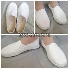 白布鞋 白饭鱼白色工作鞋白帆布鞋