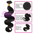 100%virgin human hair extensions body