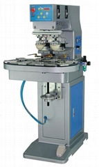 Two colours pad printer with conveyer