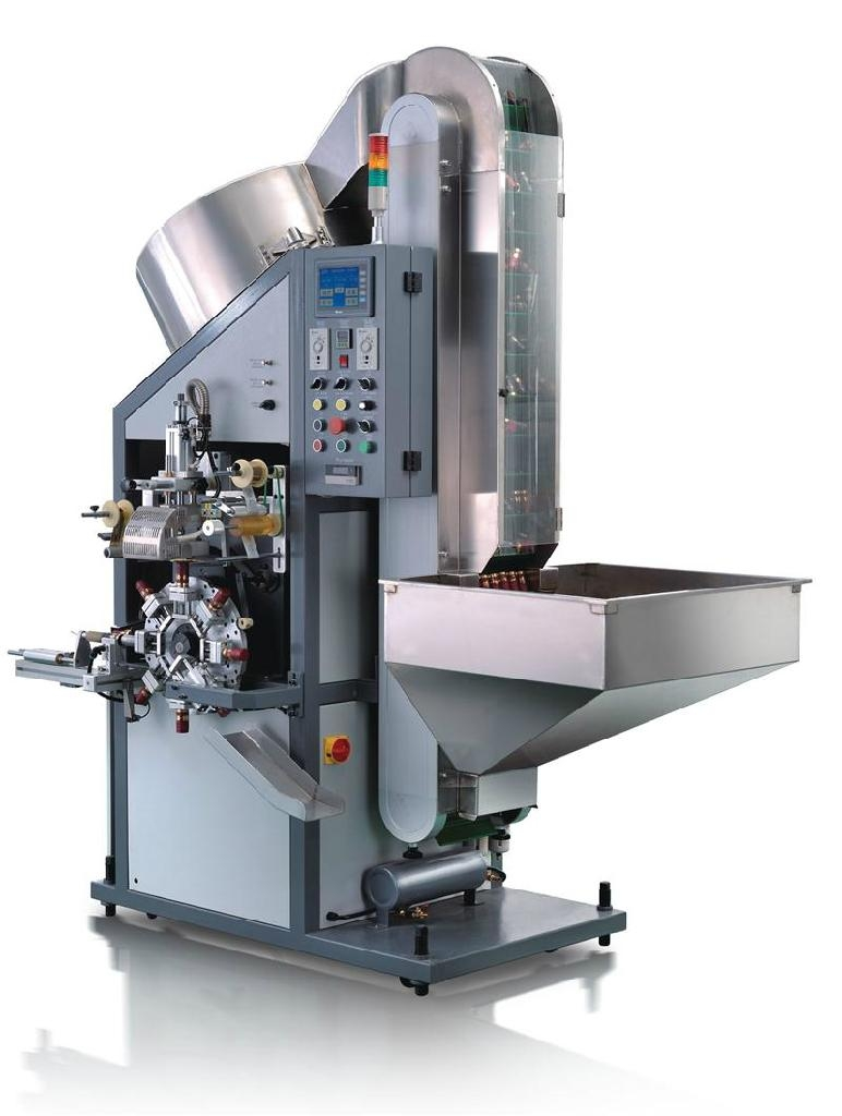 Automatic cylinder hot stamping machine ( For cap's circle edges)--With Eight wo 1