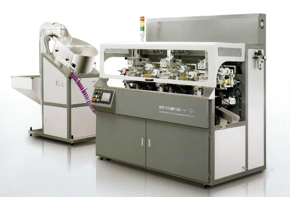 Fully automatic chain-type multicolor hot stamping machine   1