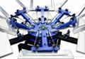 6 Colors 6 Station Manual Rotating Screen Printer