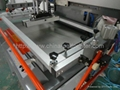 Electric flat-bed screen printer with vacuum table