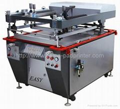 High precision Oblique-Arm flatbed silk screen printers