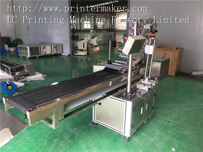 Flat Automatic Labeling Machine with Vacuum Belt Conveyor 2