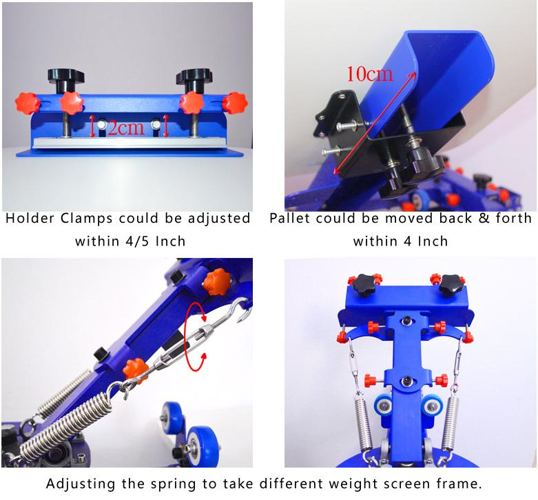 4 Color 1 Station Press Printer with Metal Stand 3