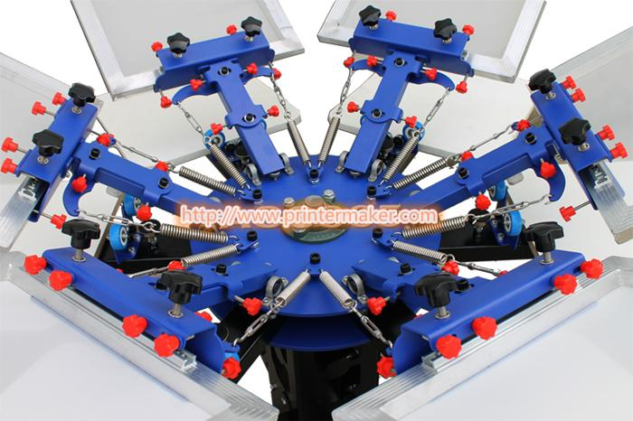 6 Color 6 Station Press Printer 5