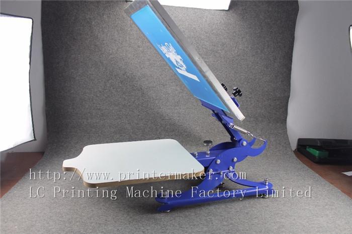 single color screen press silk screen printing machine 6