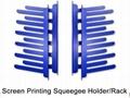 Screen Printing Squeegee Holder Rack
