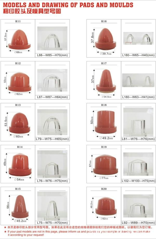 Cylindrical Rubber Pads and Moulds 4