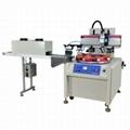 Flat Screen Printing Machine With Rotary