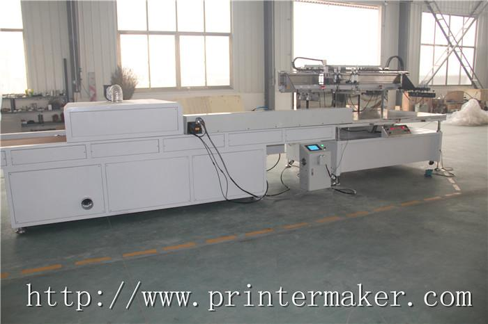 Flat Bed Screen Printing Machine with Auto Unload System and IR Tunnel 6