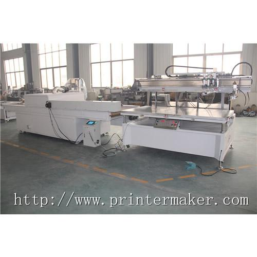 Flat Bed Screen Printing Machine with Auto Unload System and IR Tunnel 1