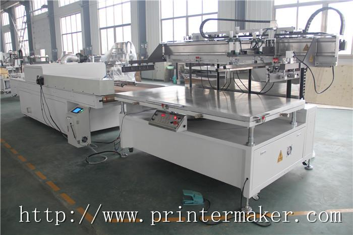 Flat Bed Screen Printing Machine with Auto Unload System and IR Tunnel 10