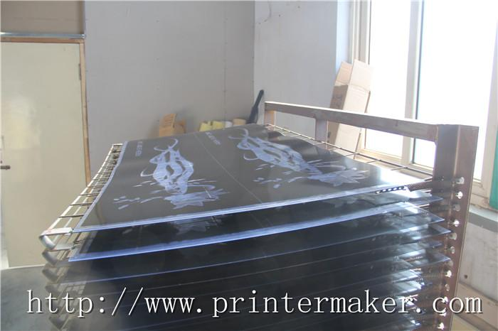 Flat Bed Screen Printing Machine with Auto Unload System and IR Tunnel 15