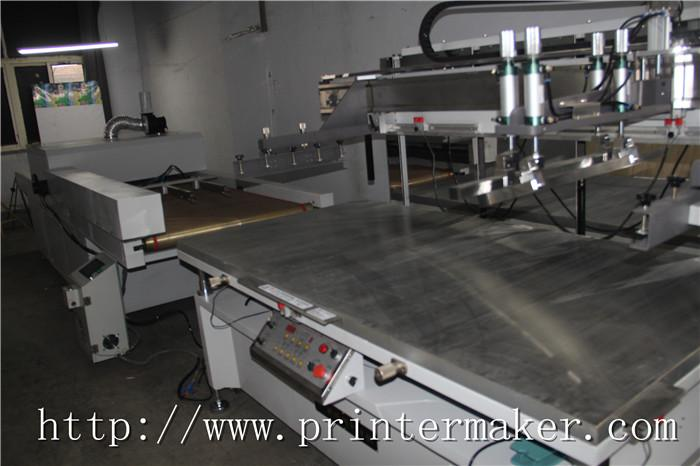 Flat Bed Screen Printing Machine with Auto Unload System and IR Tunnel 17