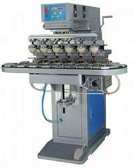 Six Color Pad Printer With Conveyor